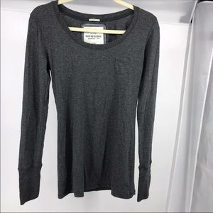 NEW Poof Grey Long Sleeve Shirt Top L